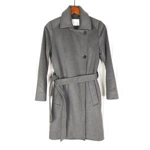 Everlane Wool Cashmere Trench Coat Sz XS